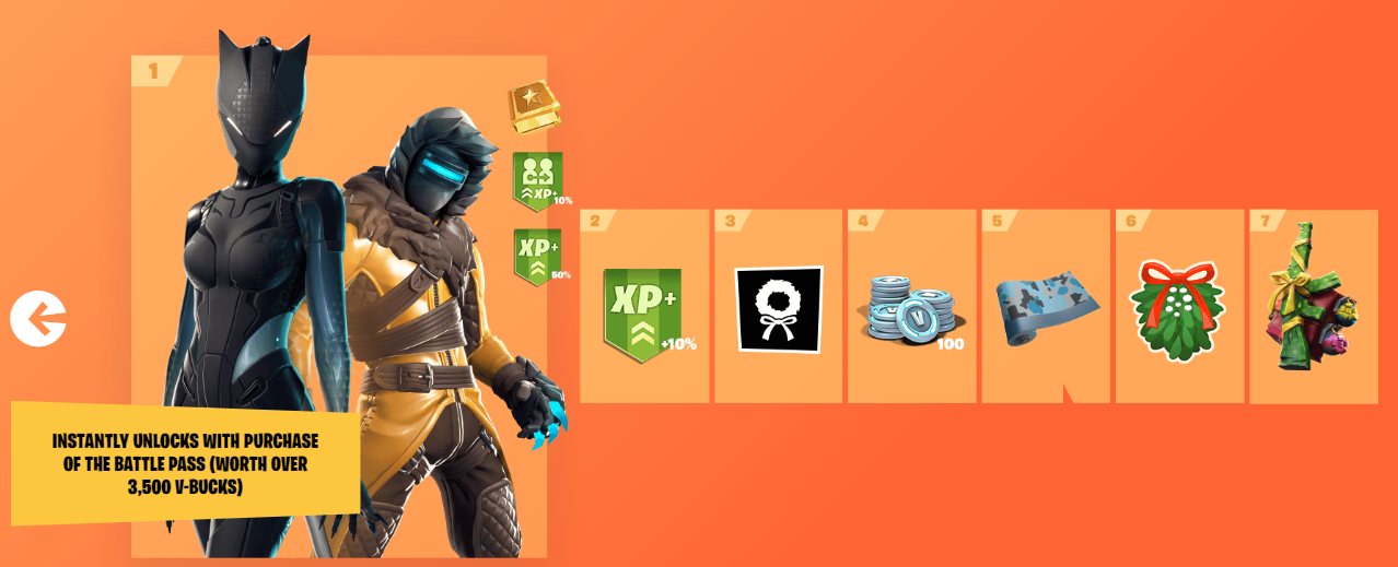 Fortnite Season 7 Battle Pass Every Tier Rewards Trailer And More