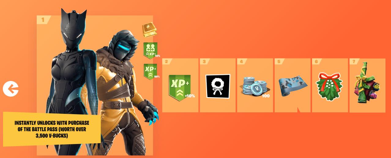 Fortnite Season 7 Battle Pass Every Tier, Rewards