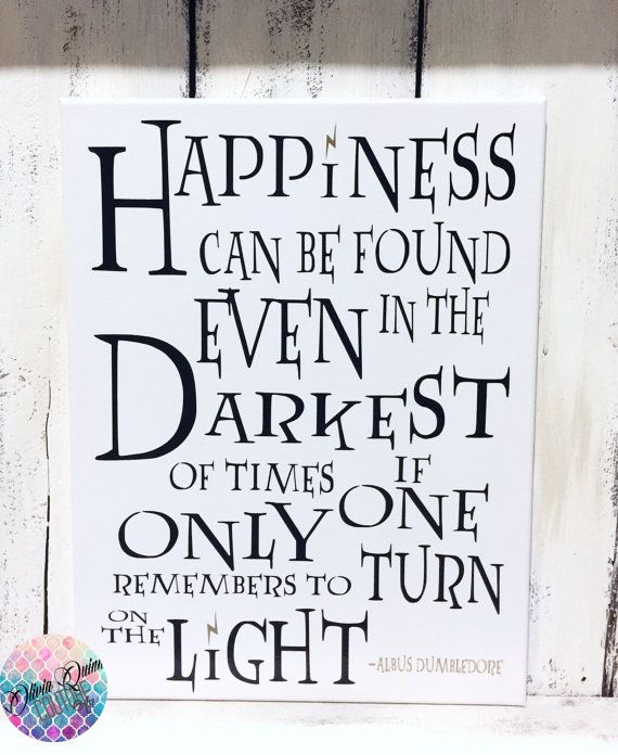 Dumbledore HARRY POTTER Happiness Quote SALE By OliviaQuinnCouture PIN15  For 15% Off