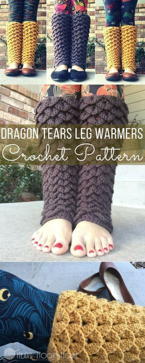 Dragon Tears Leg Warmers Crochet Pattern | Krokodilstich, Muster und ...