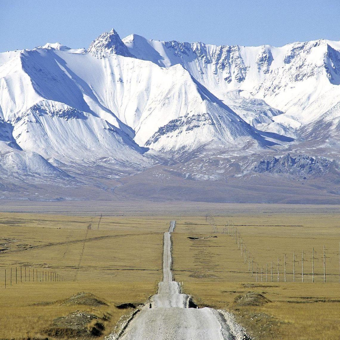 Lonely Road Kyrgyzstan