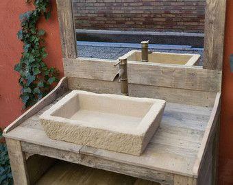 Mueble de ba o hecho con madera de palet por for Confeccionamos muebles de bano en palet