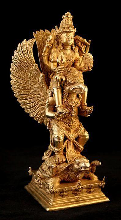 Garudashan Narayan Goddess Sculpture Thai Art Sculpture