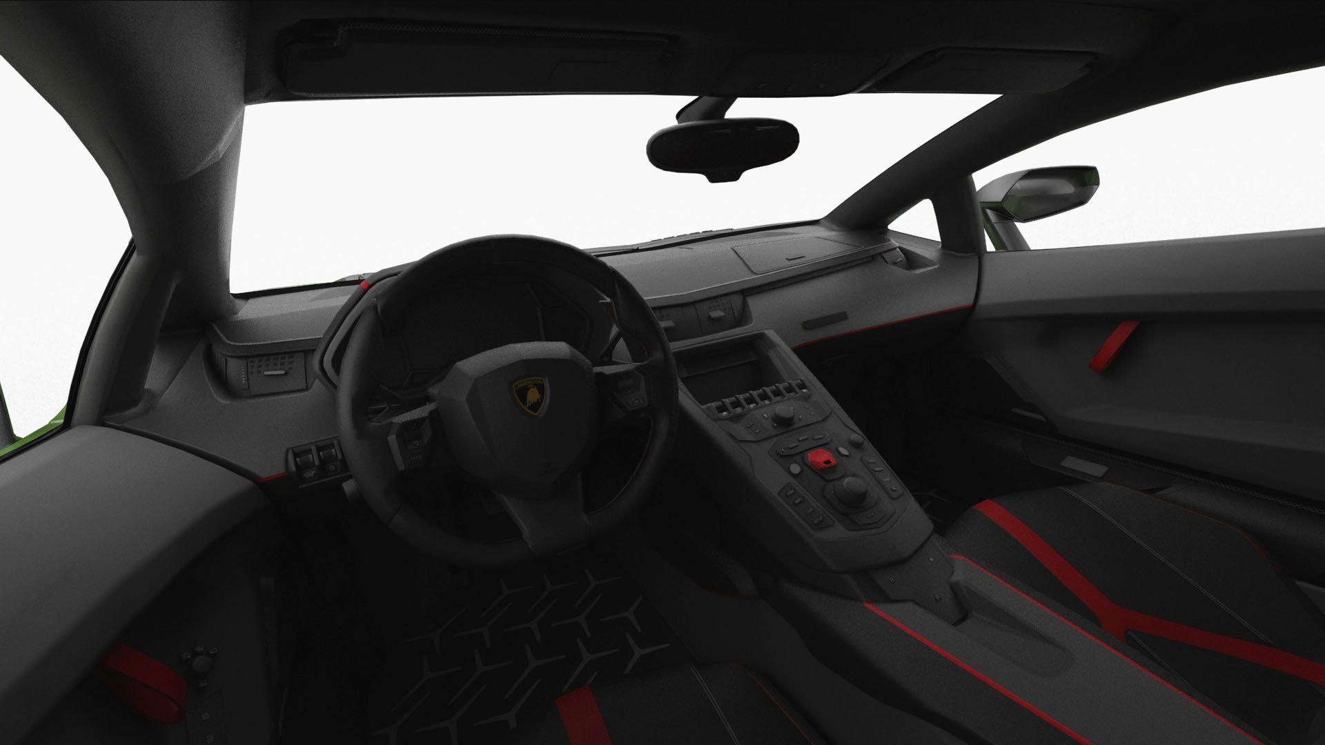 Lamborghini Aventador Svj 2019 Hq Interior Svj Aventador