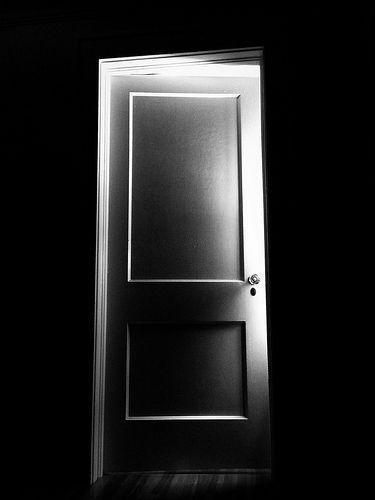 Open Door Black And White