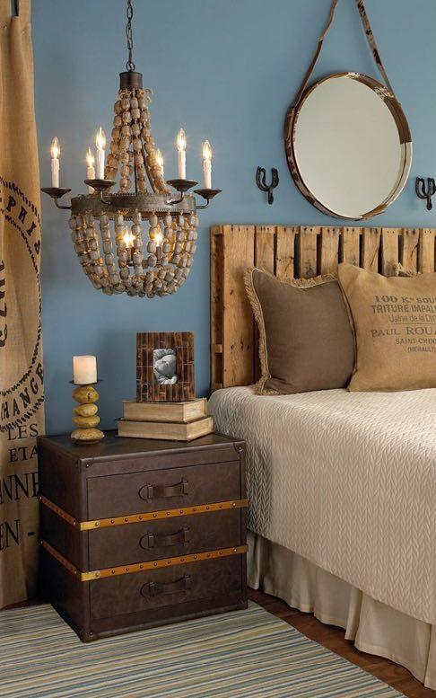 cabecero de cama hecho con palets palets - Cabeceros Con Palets