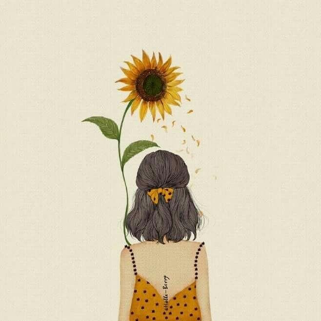 Sun Sunflowers Art Drawing Inspiration Illustration Artsy Sketch Design