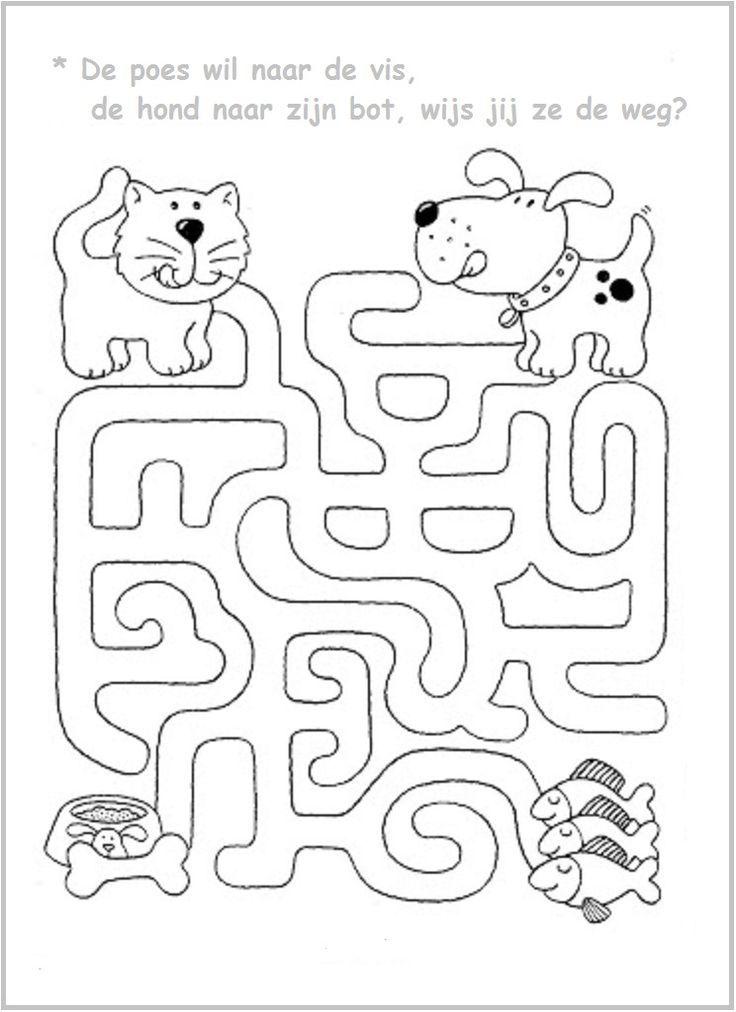 Aanimal Maze Worksheet (3) Crafts And Worksheets For Preschool,Toddler  And Kindergarten Mazes For Kids, Maze Worksheet, Preschool Activities
