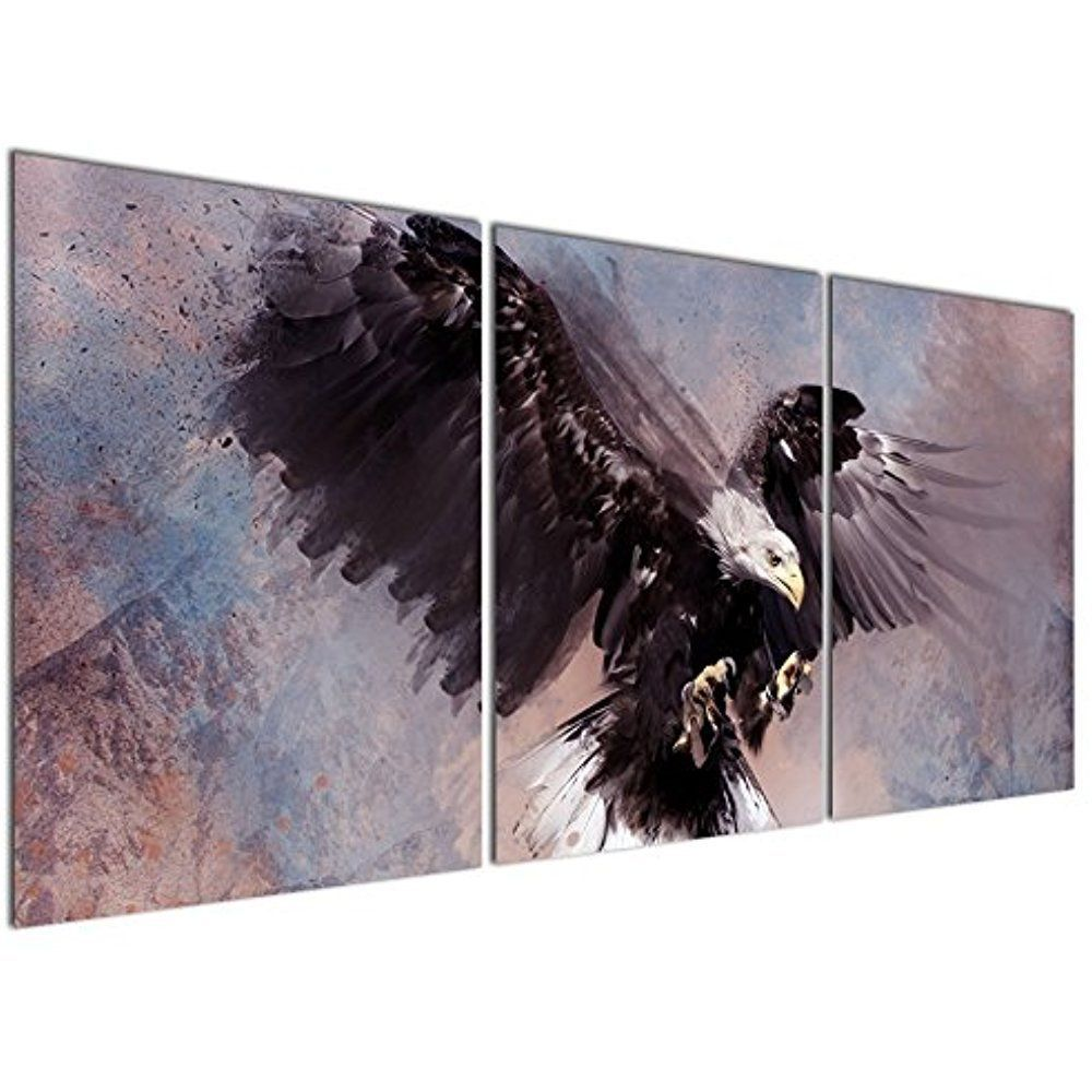 Framed Flying Eagle Bird Animal Modern Art Canvas Painting Print