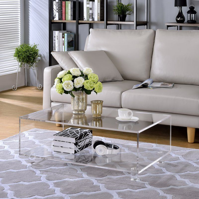 Two Tier Lucite Acrylic Coffee Table