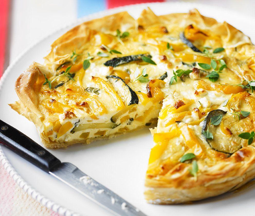 Courgette & feta filo tart | Recipe | Filo pastry, Filo ...