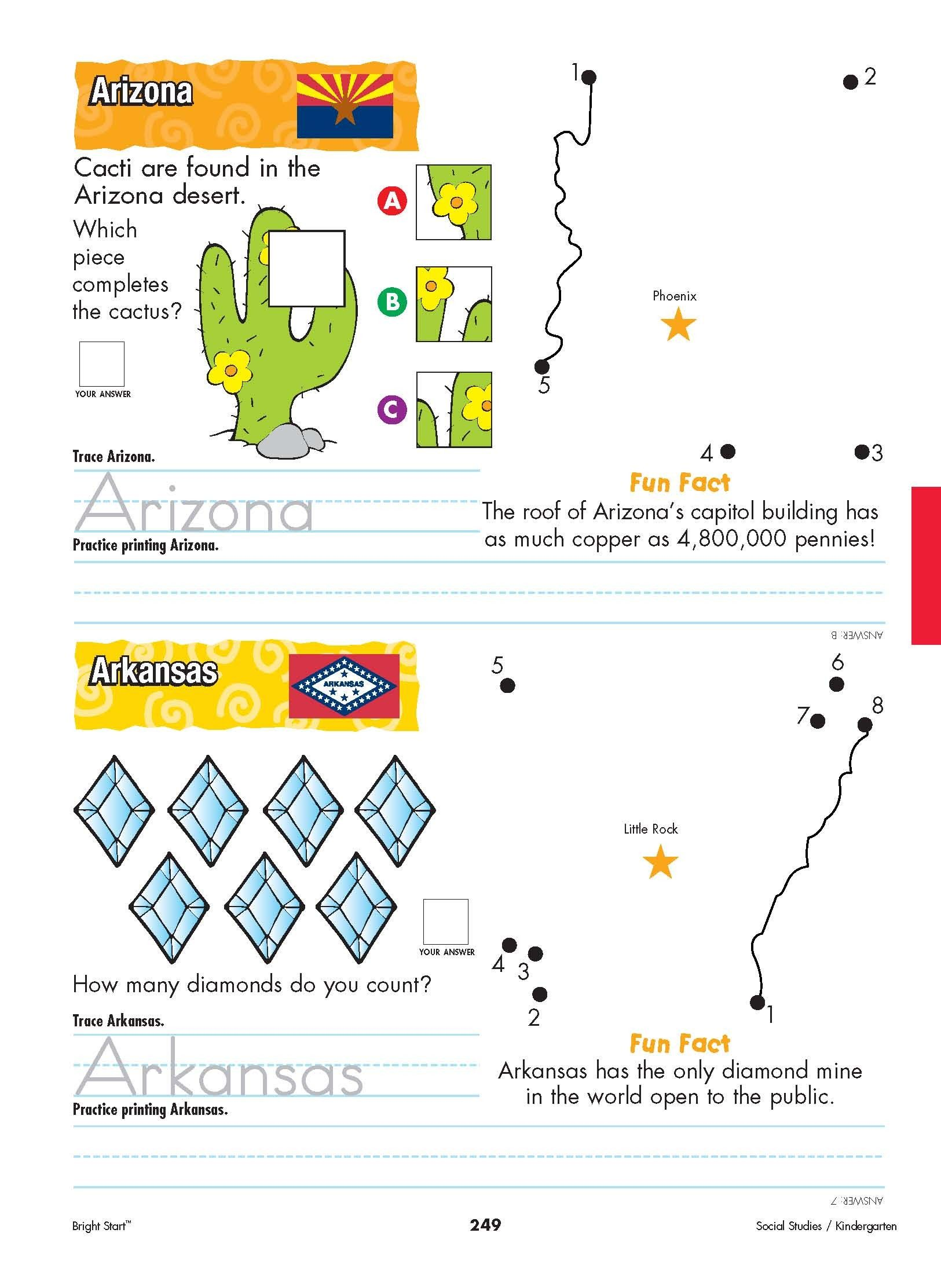 50 States Worksheet