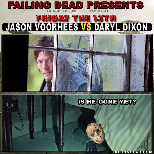 Jason Voorhees Vs. Daryl Dixon Friday the 13th memes