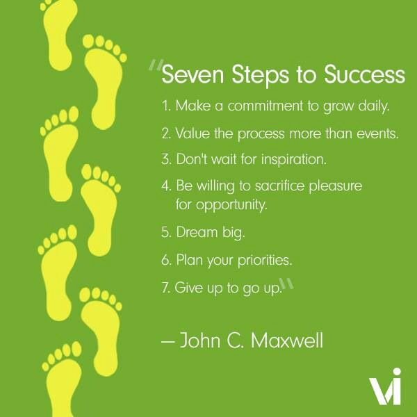 Seven Steps To A Success  John C Maxwell Who Wants Their Weight