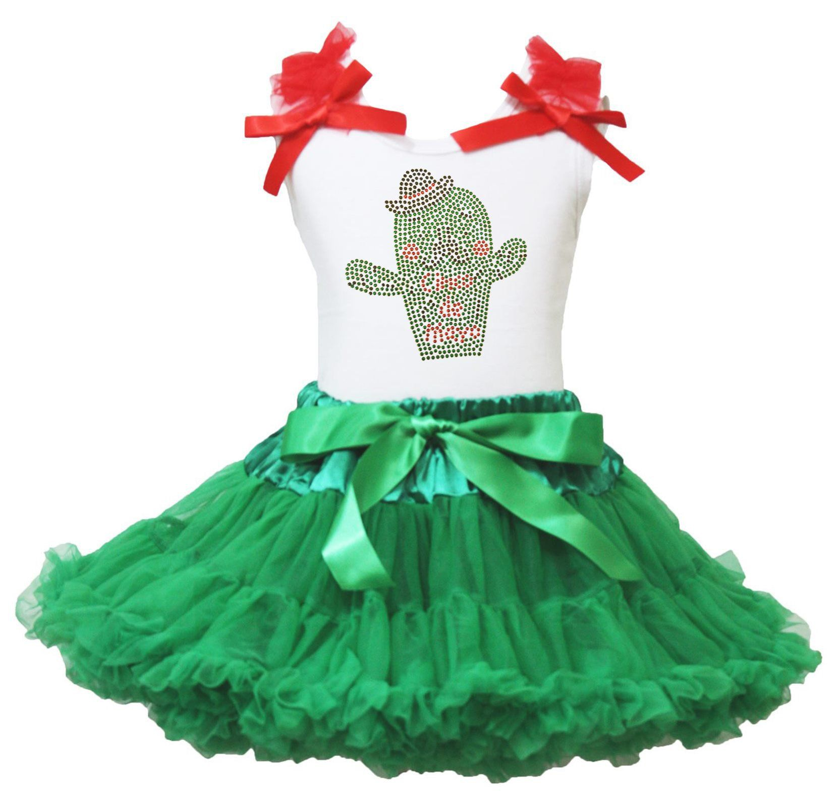 St Patrick's Day Dress I Love Clover White L/s Shirt Green Petal Skirt Set 1-8y Girls Clothing Sets