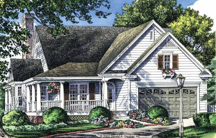 Country Style House Plan 3 Beds 2 Baths 1700 Sq Ft Plan 929 43 Cottage House Plans New House Plans Country Style House Plans