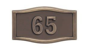 Gaines Mailboxes Housemark Small Roundtangle Address Plaques Bronze with Antique Bronze by Gaines Mailboxes. $148.79. Budget Mailboxes has a 1-day sale on the Housemark Small Roundtangle Address Plaques Bronze with Antique Bronze by Gaines Mailboxes. This item is sometimes also known as: A1-SRBR - B0081A1SO8 - - WL-A1-SRBRBM, 19132