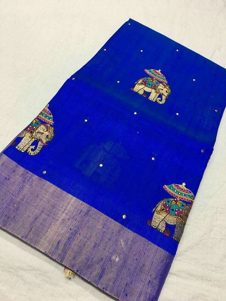 17d9bf5c8 Banaras jute silk work sarees Price 6650 Order what s app 7995736811 ...