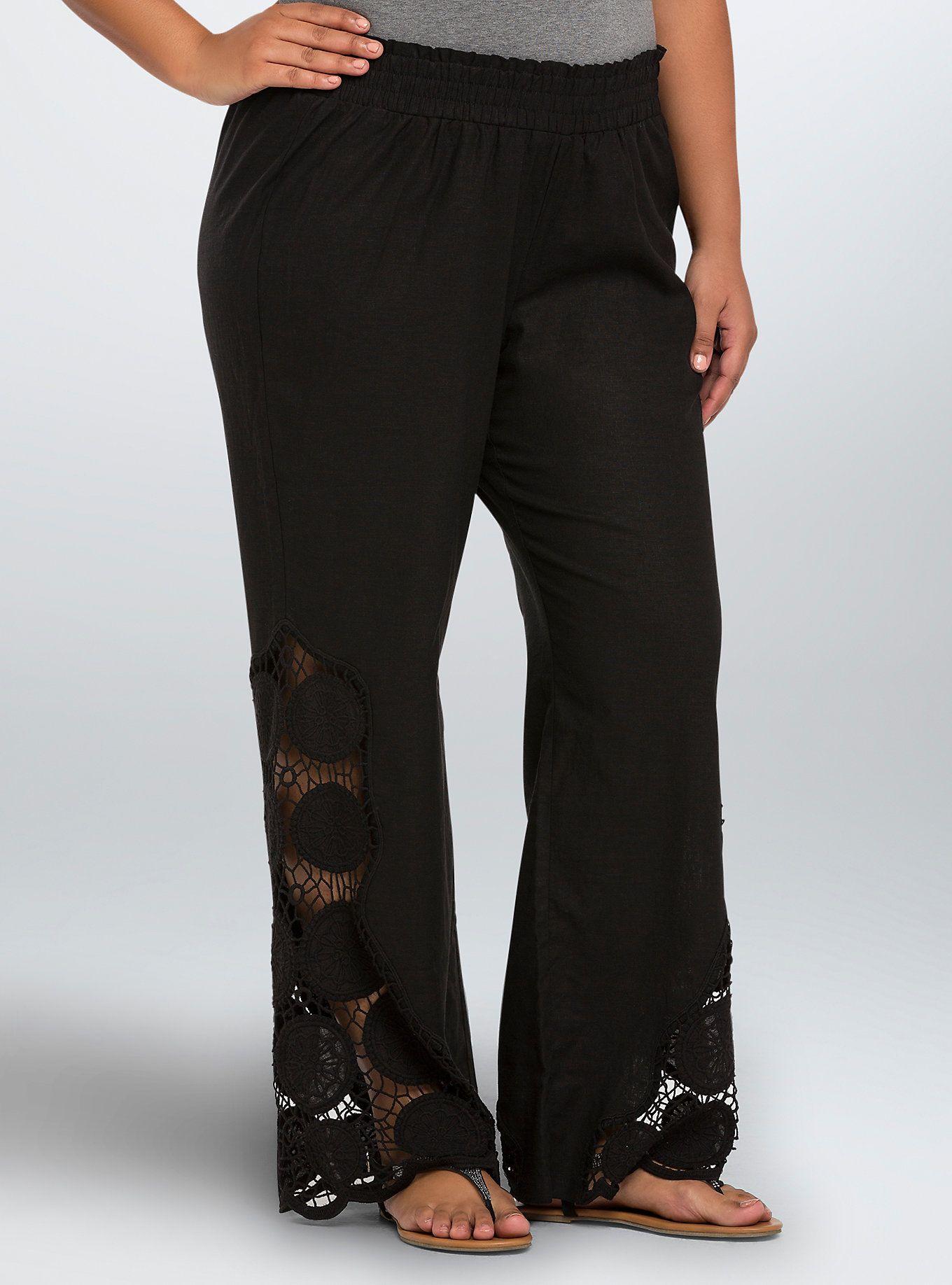 aad87e5c1f3f Crochet Beach Pants | Women's Fashion | Beach pants, Pants, Black ...