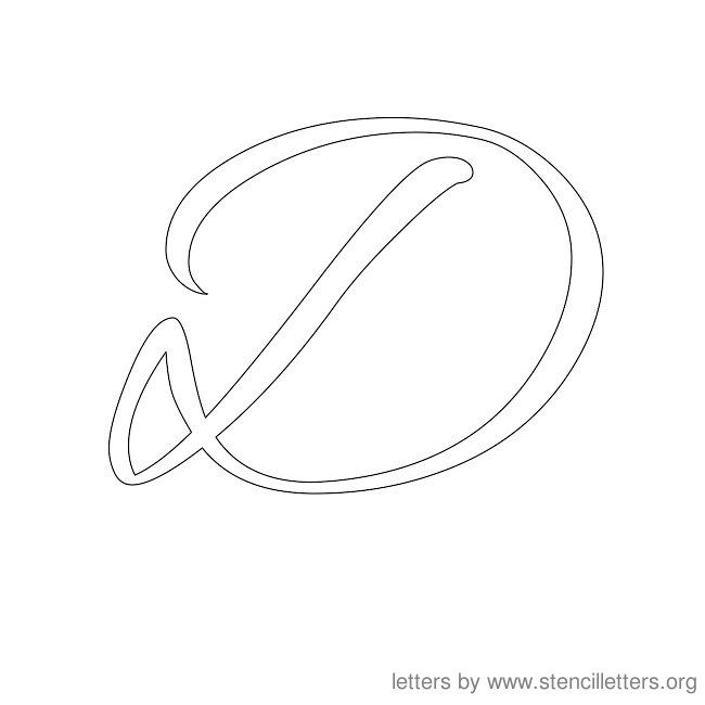 Cursive Letter Stencils D Letter Templates Stencils Lettering