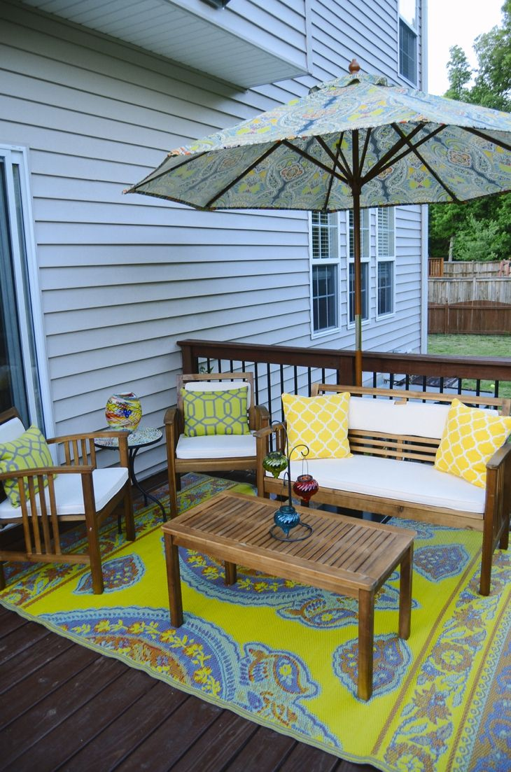 Deck decorating with World Market and Pier 1 (10) | HOME: decor ...