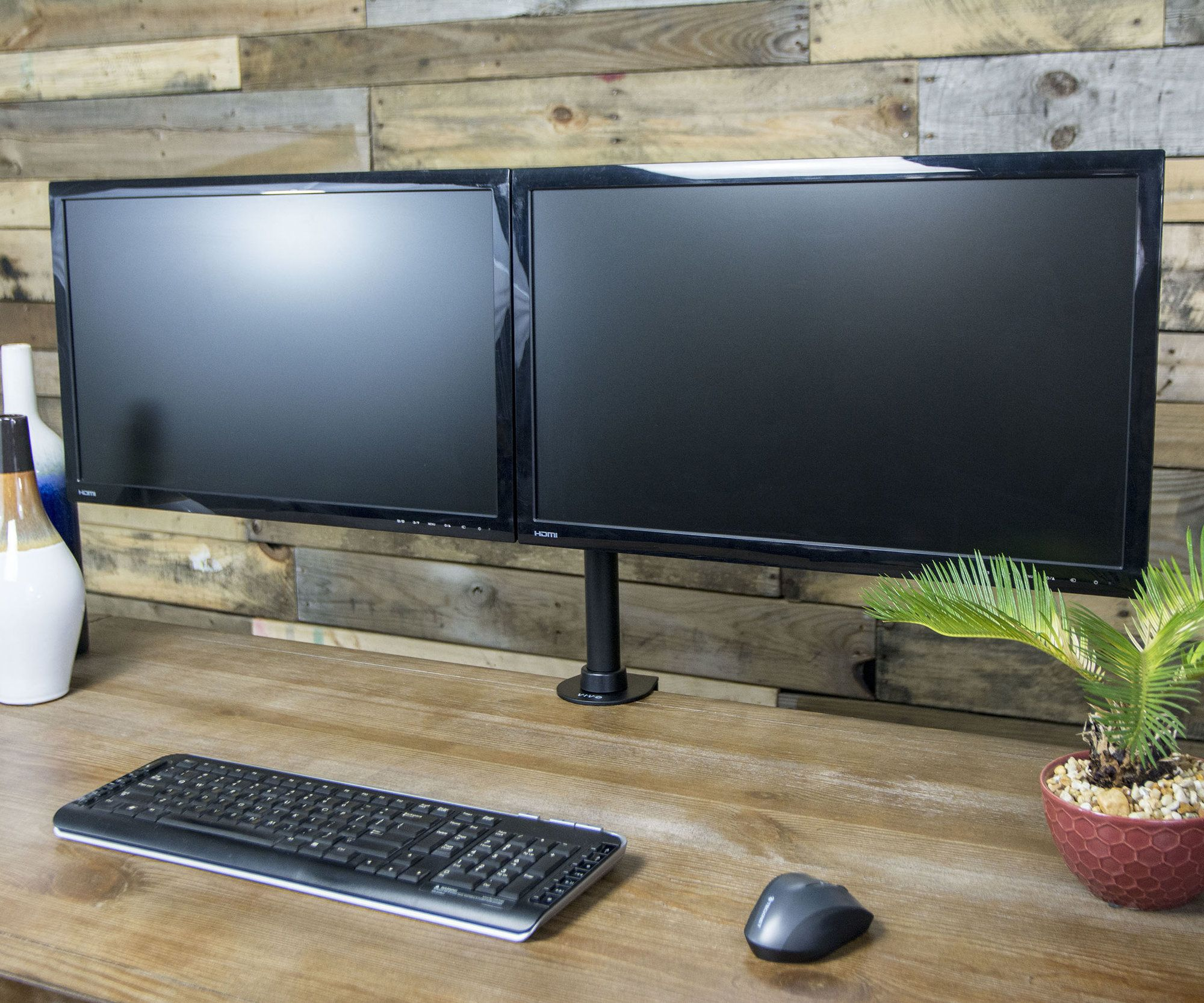 "Dual Monitor 27"" Array Desk Mount"