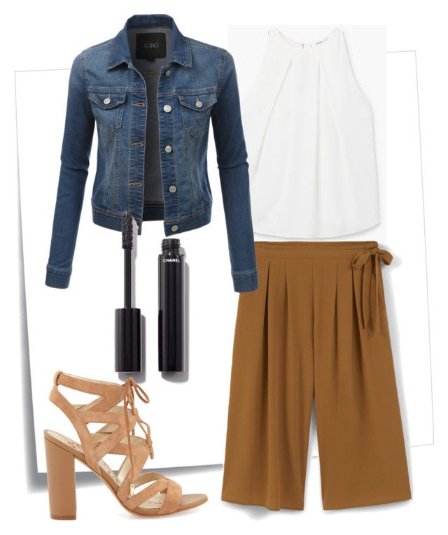 160412_CULOTTE2 by sgb007 on Polyvore featuring moda, MANGO, LE3NO, Sam Edelman, Chanel and Post-It