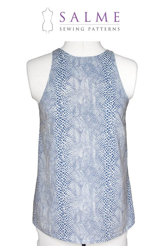 PDF Sewing pattern Hannah Top by Salmepatterns on Etsy, $7.00 ...