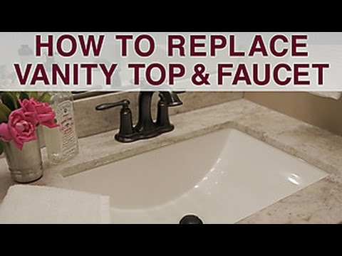 90 Replace Vanity Top And Faucet Diy Network Youtube Faucets Diy Diy Bathroom Vanity Diy Vanity