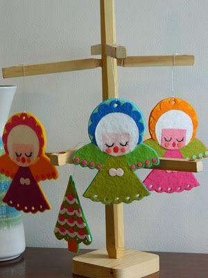 felt angel craft natal Pinterest Cosas de navidad, Fieltro y