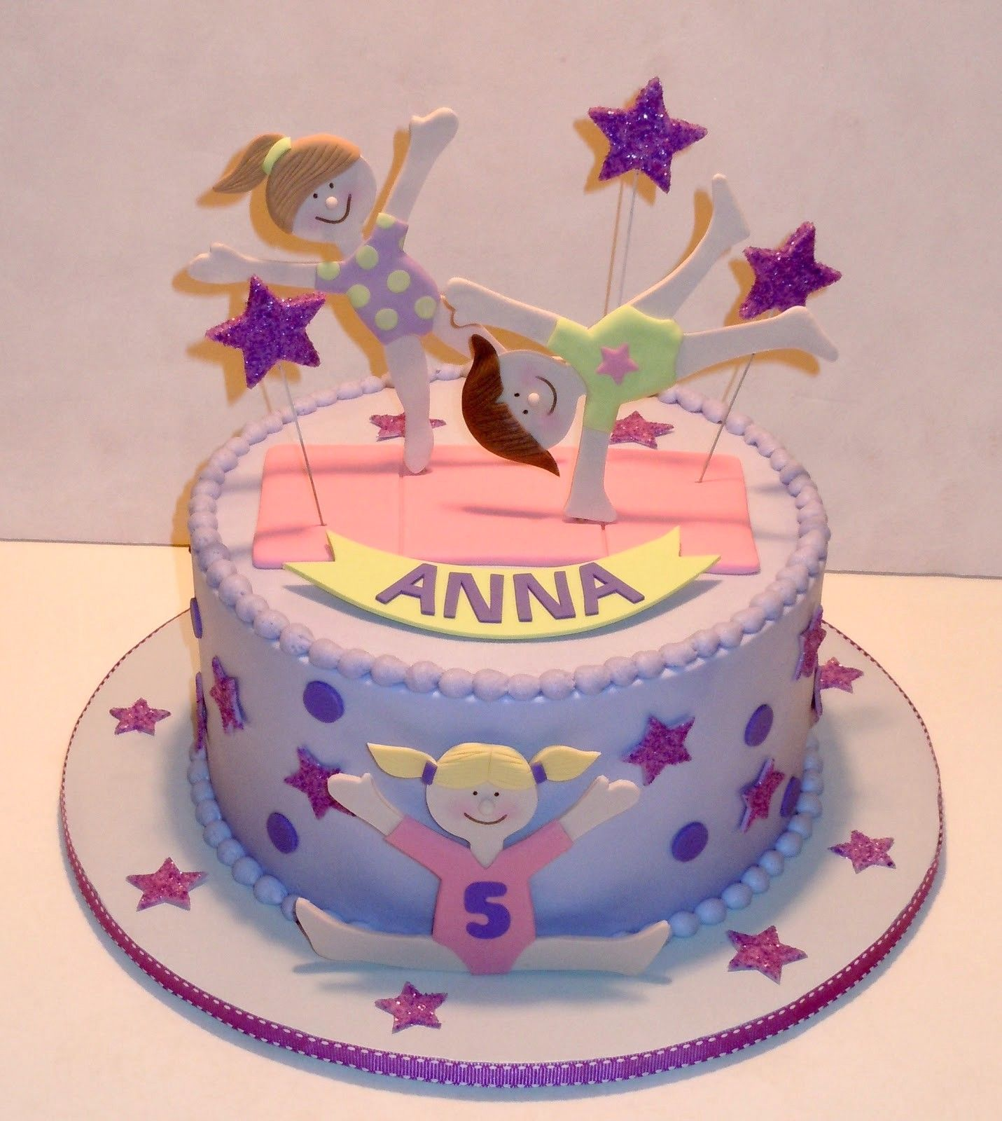 Fabulous Gymnastics Cake With Images Gymnastics Cakes Gymnast Birthday Personalised Birthday Cards Paralily Jamesorg