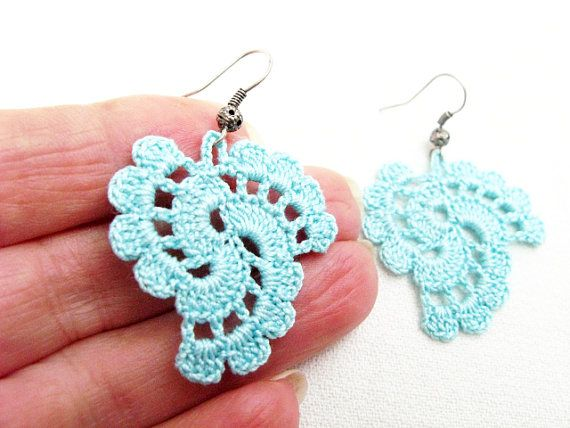 Crochet Earrings Pattern Pdf Tutorial Crochet Wedding Earrings
