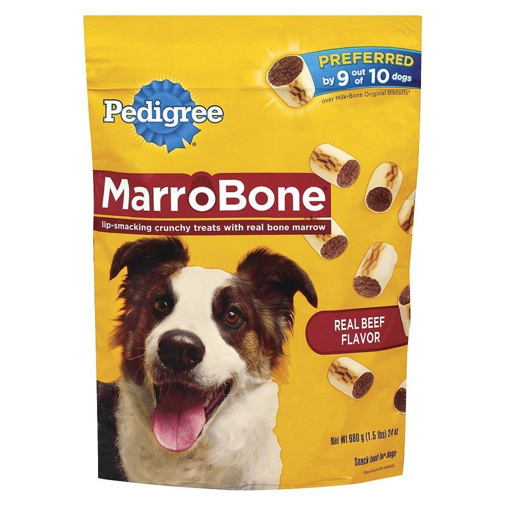 Pedigree Marrobone Real Beef Flavor Snacks For Dogs 24 Ozs Adult