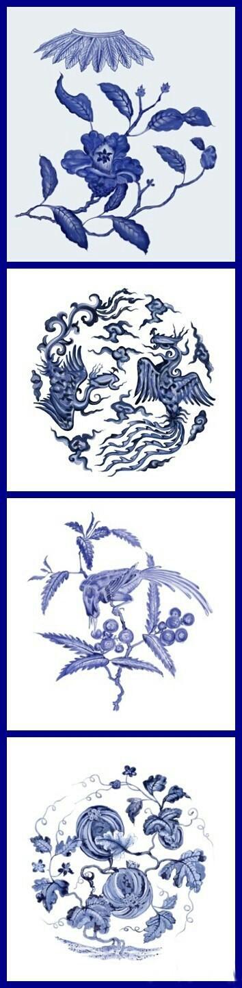 #中国风#文物上的青花纹案,单抠出来看还是一样的美。http://t.hujiang.com/album/1414092090/
