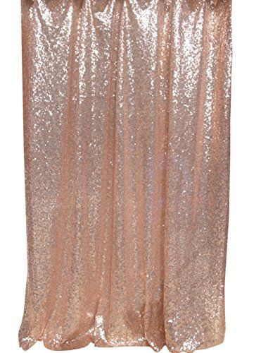 Langxun 43ft X 85ft Champagne Shimmer Sequin Fabric Photo Booth Backdrop Curtain PINK