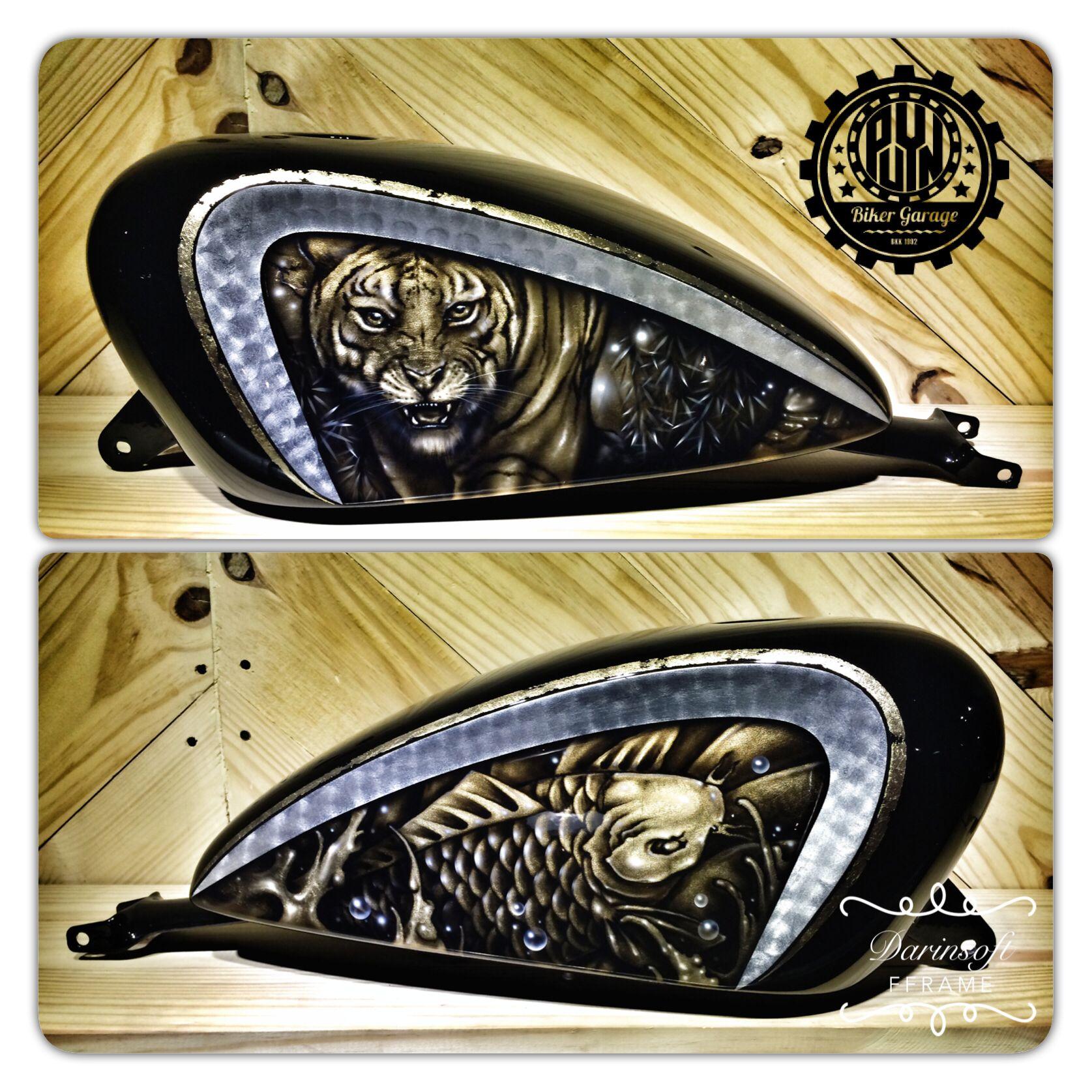 Tattoo Gold Leaf Graphic Sportster Gas Tank Custom