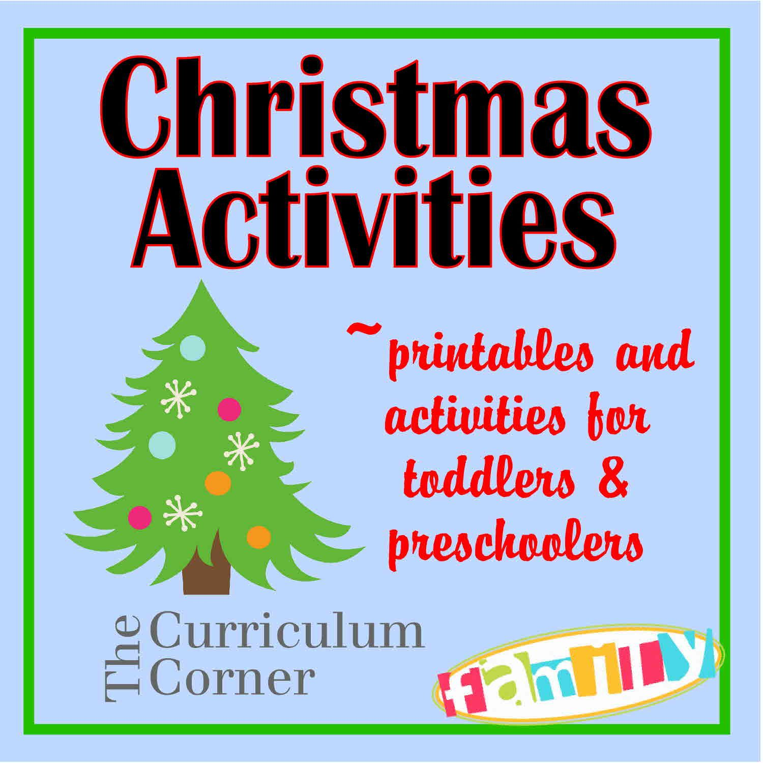 Christmas Activities And Printables For Toddlers