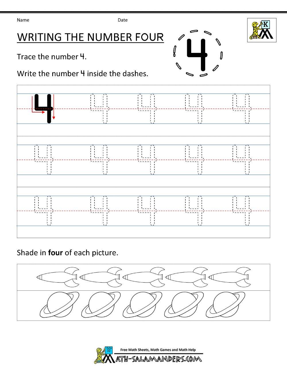 worksheet Number 4 Worksheets For Kindergarten image from httpwww math salamanders comimage fileskindergarten comimage