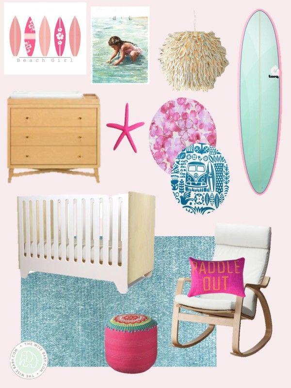 Surfer Girl Nursery Inspiration Nursery Inspiration Girl Baby