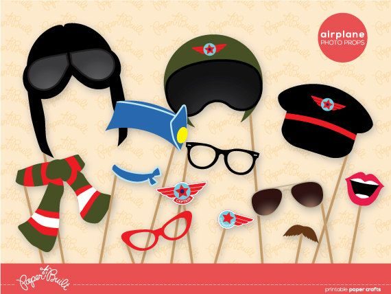 Printable Airplane Birthday Party Aviator Pilot by PaperBuiltShop