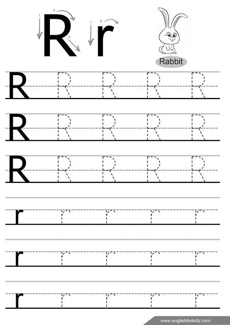 Letter R Tracing Worksheet Handwriting Sheets Alphabet