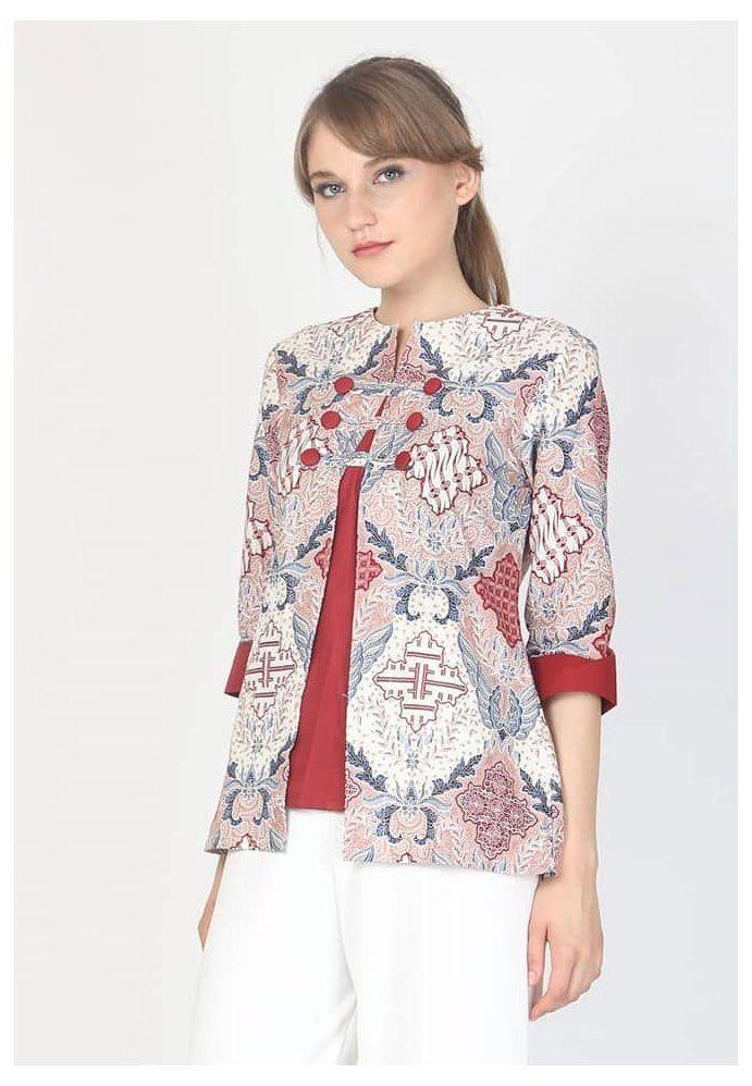 model baju batik blazer