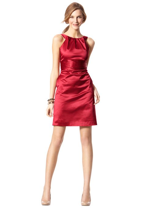 Bridesmaid Dresses by Target. Ring neck sateen dress. Seam pockets ...