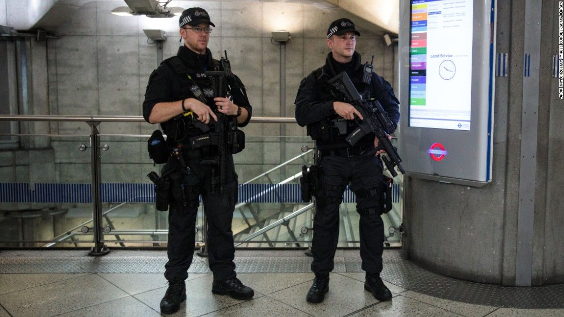 London terror attack aftermath Police watch over Monday