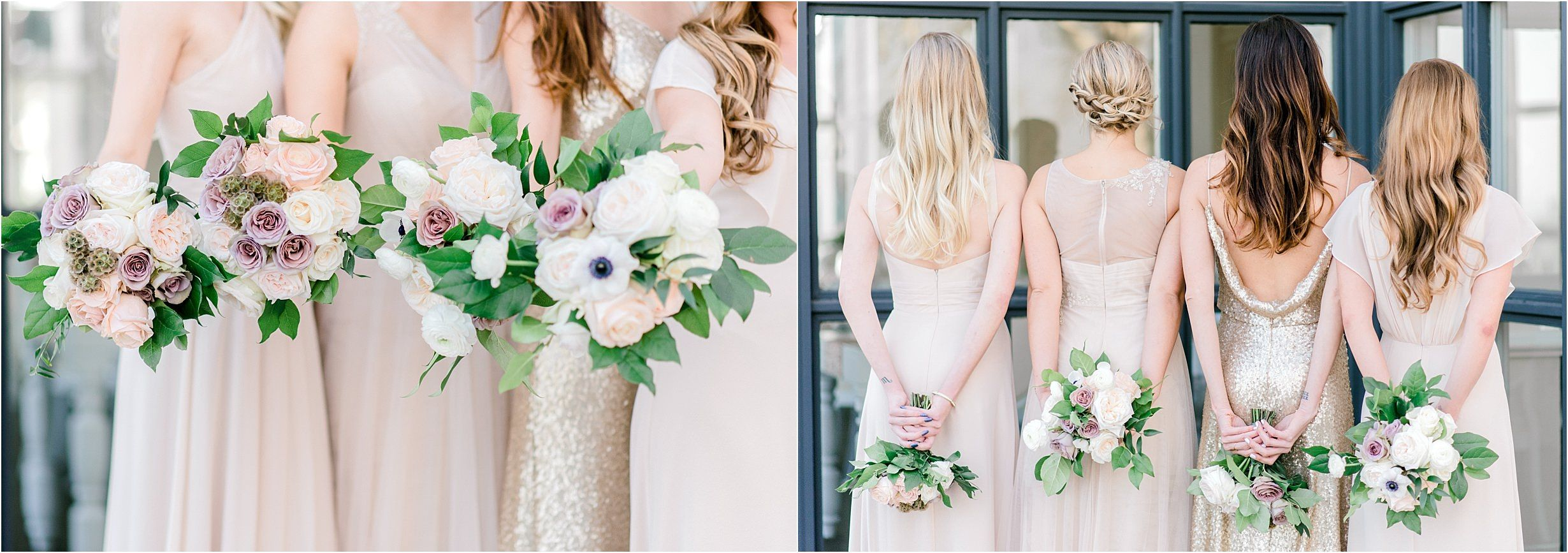 Bride With Bridesmaids At Summit House Southern California Wedding Elopement Photographer Bouquet La Oc Photography Maggie Smith