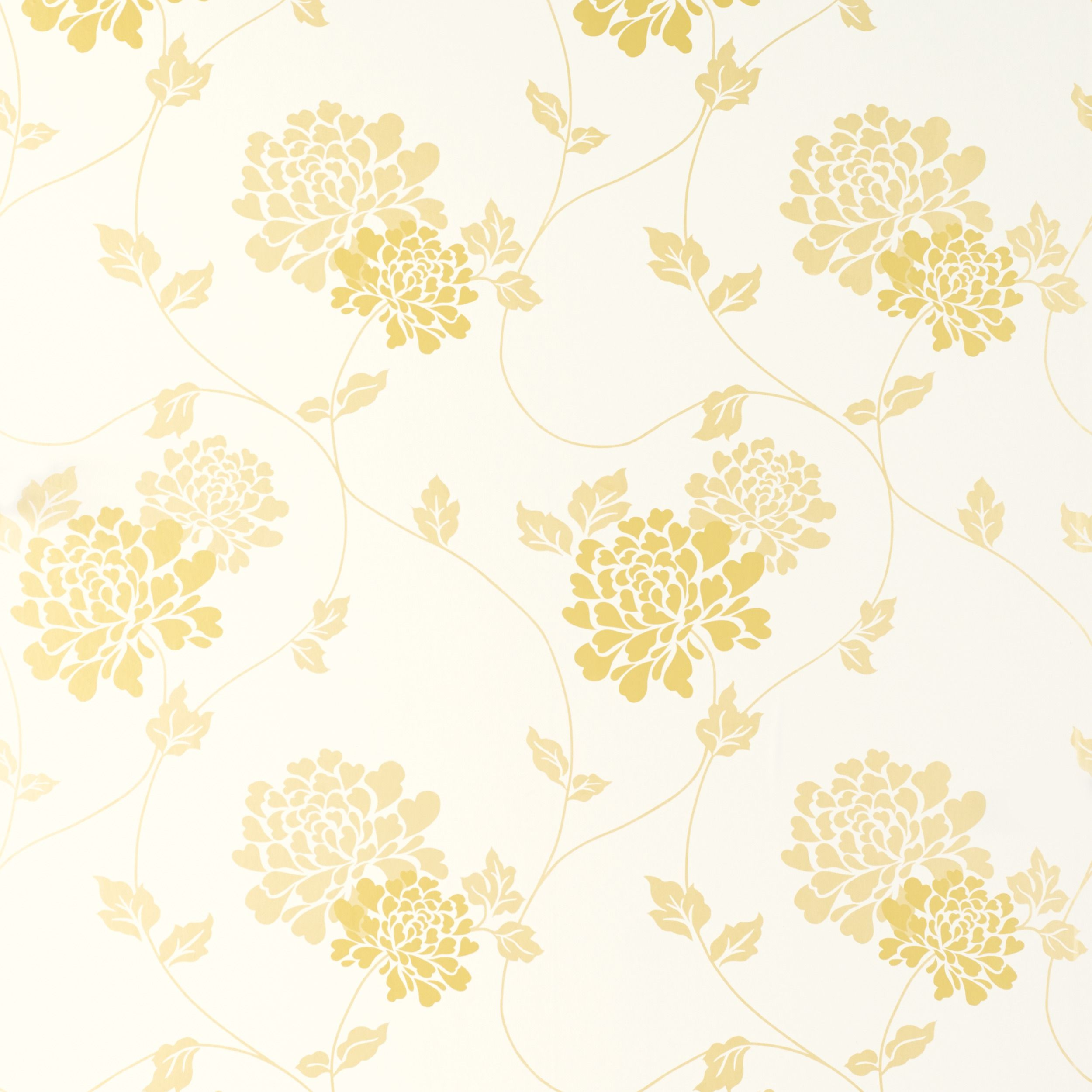 Isodore Camomile Yellow White Fl Wallpaper