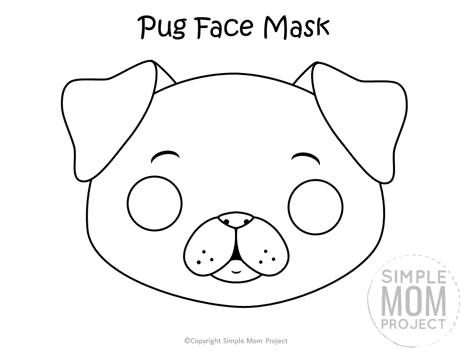 Dog Face Mask Templates Dog Mask Dog Template Free Kids