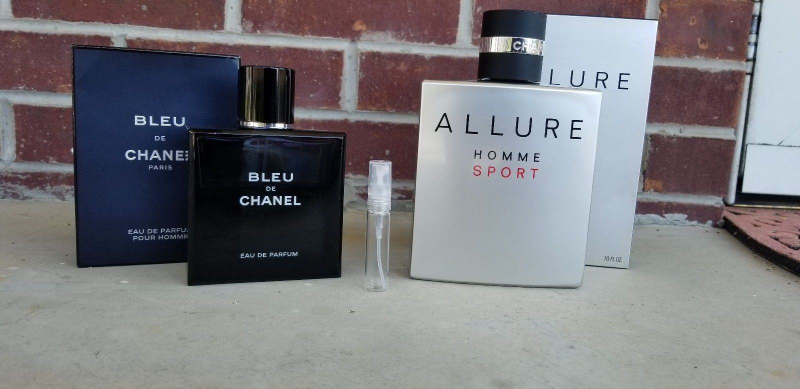 488f685369a6 20.99   NEW! Chanel Allure Homme Sport & Blue de channel samples ...