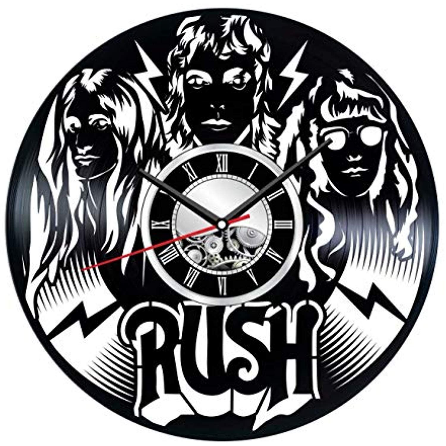 Rush Wall Clock Made Of Vinyl Record Stylish Clock And Amazing Music Gifts Idea A Unique Home Decor Living Room Art How To Make Wall Clock Presents For Men