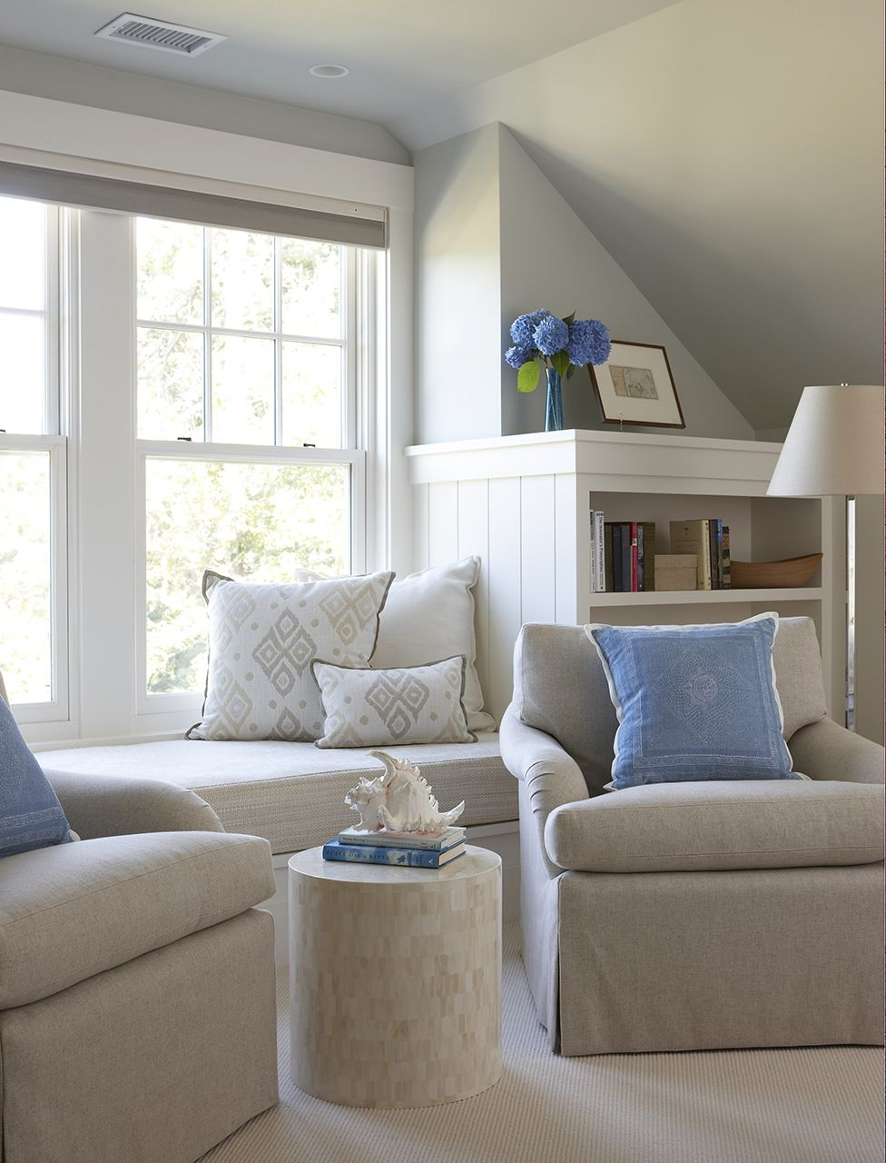 cottage style furniture living room with window seat   Janine Dowling Interior Design - Transitional Portfolio ...
